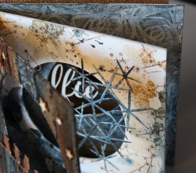 Álbum Exocéntrico madera sobre carton