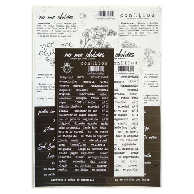 Stickers cartón Nomeolvides