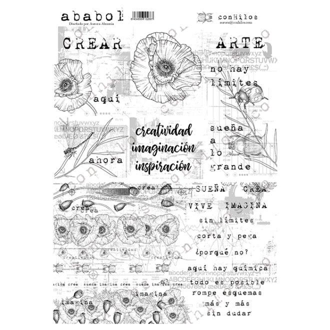 Stickers textos Ababol