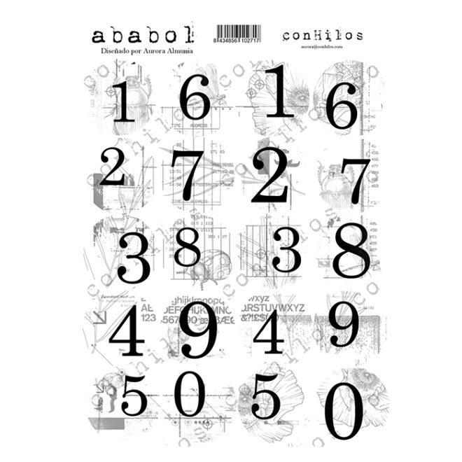 Sticker numeros Ababol