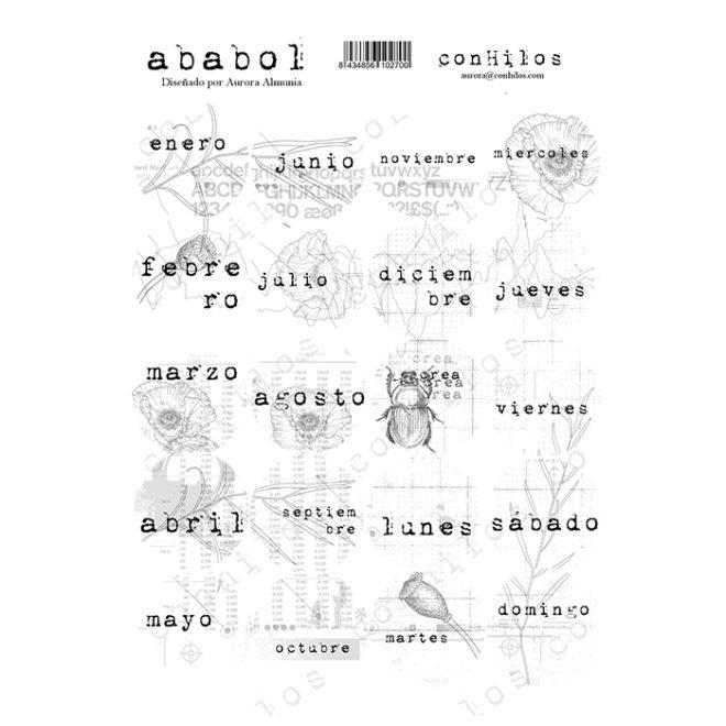 Stickers días y meses Ababol