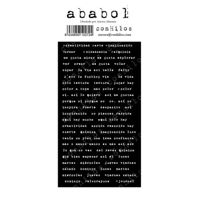 Sticker Ababol cartón 10x21
