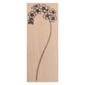 Sello de la coleccion Nomeolvides con la flor de No me olvides con tallo.