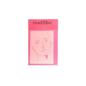 Stencil de cara grande ConHilos diseñado por Mara Sannia