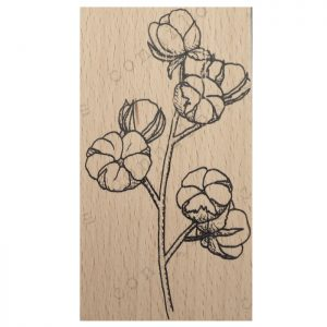 Imagen del sello de la flor del algodón de Mi Diario de Navidad