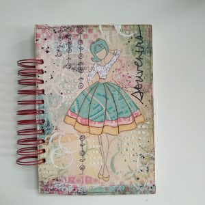 journal chica hecho a mano producto unico